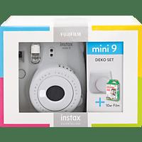 FUJIFILM Instax Mini 9 Travel Set Sofortbildkamera, Smoky White