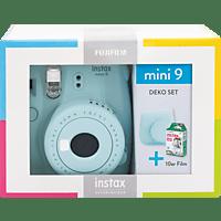 FUJIFILM Instax Mini 9 Travel Set Sofortbildkamera, Ice Blue