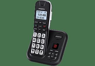 EMPORIA Schnurlostelefon GD 61 AB mit großen Tasten und digitalem Anrufbeantworter