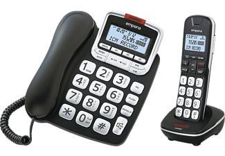 EMPORIA Telefon GD 61 ABB mit Mobilteil und volldigitalem Anrufbeantworter