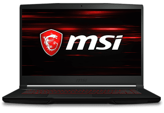 MSI GF63 9SC-053 Thin, Gaming Notebook mit 15,6 Zoll Display, Intel® Core™ i7 Prozessor, 16 GB RAM, 512 GB SSD, GeForce GTX 1650 Max-Q, Schwarz