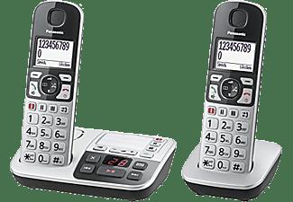 PANASONIC Schnurlostelefon KX-TGE522GS mit Anrufbeantworter, silber
