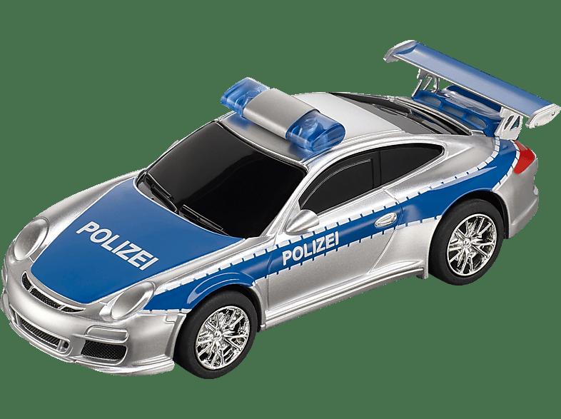 CARRERA (TOYS) GO!!! Porsche 997 GT3 Polizei Spielzeugauto, Silber/Blau