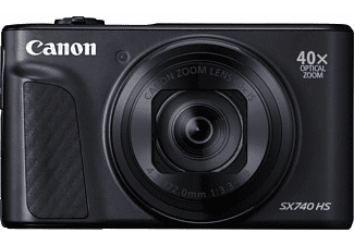 CANON Kompaktkamera PowerShot SX740 HS, 20.3MP, 1/2.3 Zoll CMOS, f3.3-6.9, 40x Zoom, 4K25p, 10B/s, Schwarz