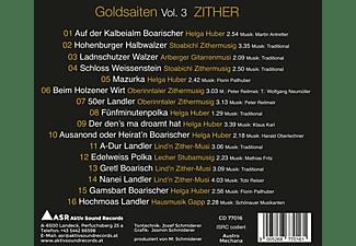 VARIOUS - Goldsaiten Vol.3-Volksmusik CD Zither  - (CD)