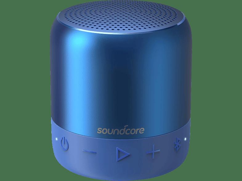 ANKER SoundCore Mini 2 Bluetooth Lautsprecher, Blau, Wasserfest