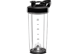 KRUPS KB181D Freshboost Standmixer Edelstahl/Schwarz (800 Watt, 0.6 Liter)