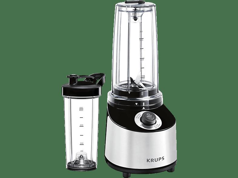 KRUPS KB181D Freshboost Standmixer Edelstahl/Schwarz (800 Watt, 0.6 l)
