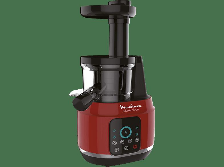 MOULINEX ZU420G Juice'n Clean Entsafter 150 Watt Rot