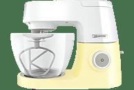KENWOOD KVC5100Y Chef Sense Colour Collection Küchenmaschine Weiß/Pastellgelb (Rührschüsselkapazität: 4,6 Liter, 1200 Watt)