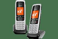 GIGASET C430HX DUO Schnurloses Telefon, Schwarz/Silber