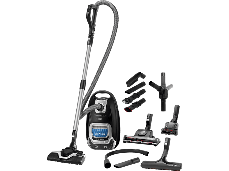 ROWENTA RO7485 Silence Force Full Care Pro (Mit Beutel, Permanent-Filter, Schwarz)