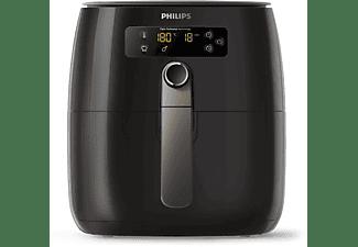PHILIPS HD 9741/10 AIRFRYER TWIN TURBOSTAR Heißluftfritteuse 1500 Watt Schwarz