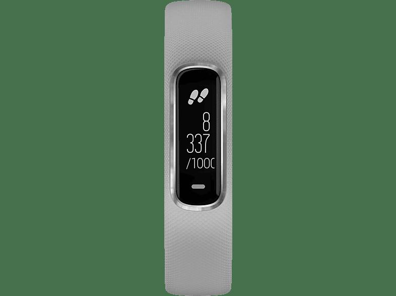 GARMIN Vivosmart 4, Smartwatch, S/M, Hellgrau/Silber