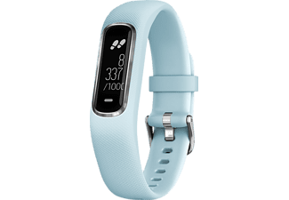 GARMIN Vivosmart 4, Smartwatch, S/M, Hellblau/Silber