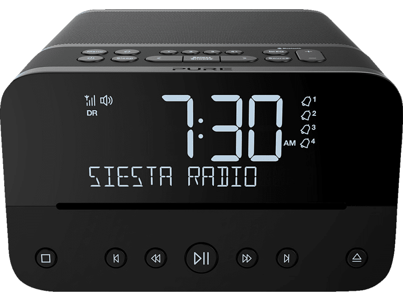 PURE PURE Siesta Home Graphite DAB+ Digitalradio (Digital, Schwarz)