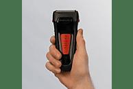 REMINGTON F0050 MyGroom Rasierer Schwarz/Rot