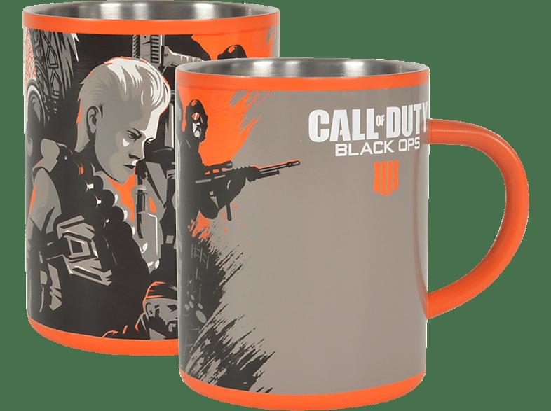 NUMSKULL Call of Duty Black Ops 4 Steel Mug Tasse, Mehrfarbig
