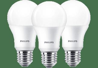 PHILIPS LED Lampe, Standardform, ersetzt 60W, E27, Warmweiß, 9 Watt, 806 Lumen, 3er Pack