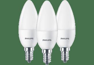 PHILIPS LED Lampe Kerze E14 warmweiß, 5.5 Watt, 470 Lumen, ersetzt 40W, 3er Pack