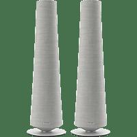 HARMAN KARDON Citation Tower - Smart Speaker (App-steuerbar, Bluetooth, W-LAN Schnittstelle, Grau)