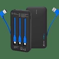 XLAYER All in one Powerbank 37 Wh (3.7V / 10.000 mAh) Schwarz/Blau