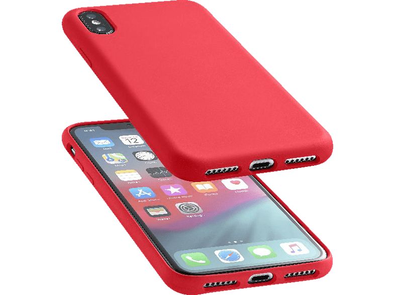 CELLULAR LINE SENSATION , Backcover, Apple, iPhone XS Max, Silikon, Rot