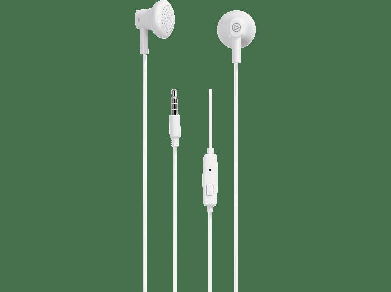 VIVANCO BUDZ, In-ear Kopfhörer  Weiß
