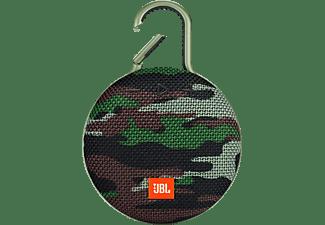 JBL Clip 3 Bluetooth Lautsprecher, Camouflage, Wasserfest