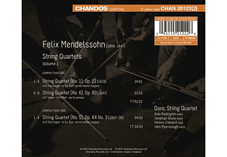 Doric String Quartet - FELIX MENDELSSOHN (1809 - 1847) - S  - (CD)