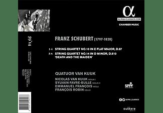 """Quatuor Van Kuijk - Streichquartette 10 & 14 """"Der Tod und das Mädchen""""  - (CD)"""