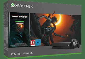 MICROSOFT Xbox One X 1TB - Shadow of the Tomb Raider Bundle