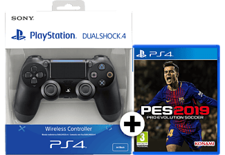 SONY PS4 Dualshock 4 V2 Black μαζί με PES 2019