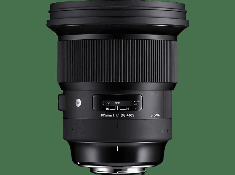 SIGMA 105 mm-105 mm f/1.4 DG, HSM (Objektiv für Canon EF-Mount, Schwarz)