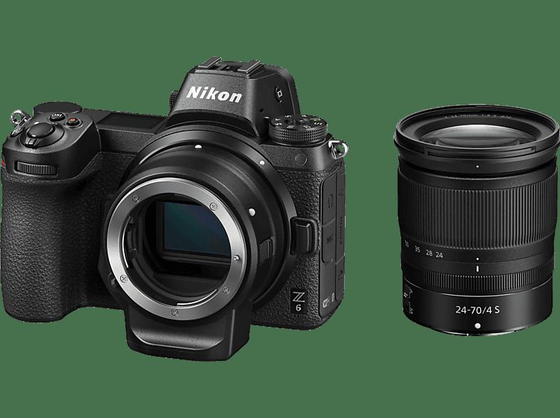 NIKON Z 6 + 24 70mm/F4 + FTZ Objektivadapter - Systemkamera