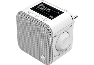 "HAMA Digitalradio ""DR40BT-PlugIn"", FM/DAB/DAB+/Bluetooth, Weiß"