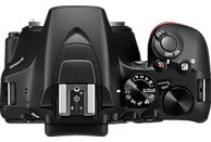 NIKON D3500 Kit AF-P DX  Spiegelreflexkamera, 24.2 Millionen Pixel, Full HD, 18-55 mm Objektiv (VR, DX, AF-P), Schwarz