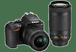 NIKON D3500 Spiegelreflexkamera mit Objektiv AF-P VR DX 18-55mm und VR DX AF-P 70-300mm