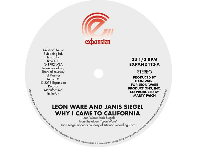 Leon Ware - Why I Came To California/Can I Touch You There [Vinyl]