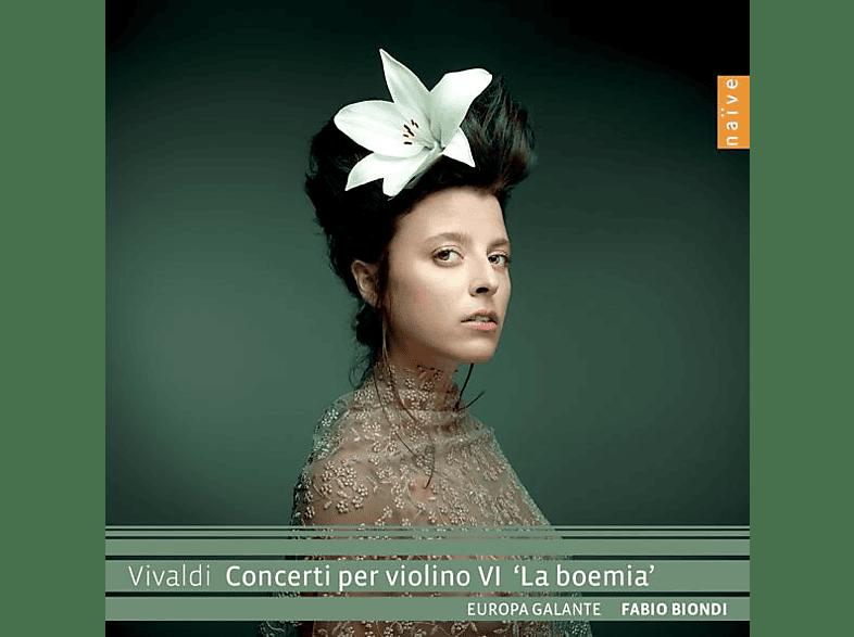 """Fabio Biondi Europa Galante - Vivaldi Concerti Per Violino VI """"La Boemia"""" [CD]"""