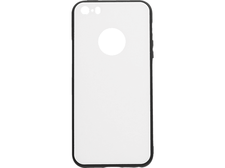 V-DESIGN VGL 009 , Backcover, Apple, iPhone 5, iPhone 5s, iPhone SE, Glas, Weiss