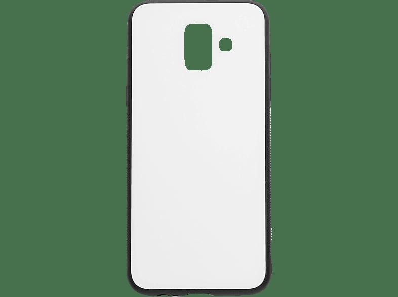 V-DESIGN VGL 021 , Backcover, Samsung, A6 2018, Glas, Weiss