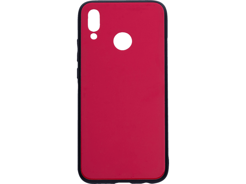V-DESIGN VGL 005 , Backcover, Huawei, P20 Lite, Glas, Rot