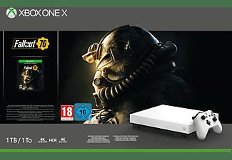 MICROSOFT Xbox One X 1 TB Robot White Special Edition Fallout 76 Bundle
