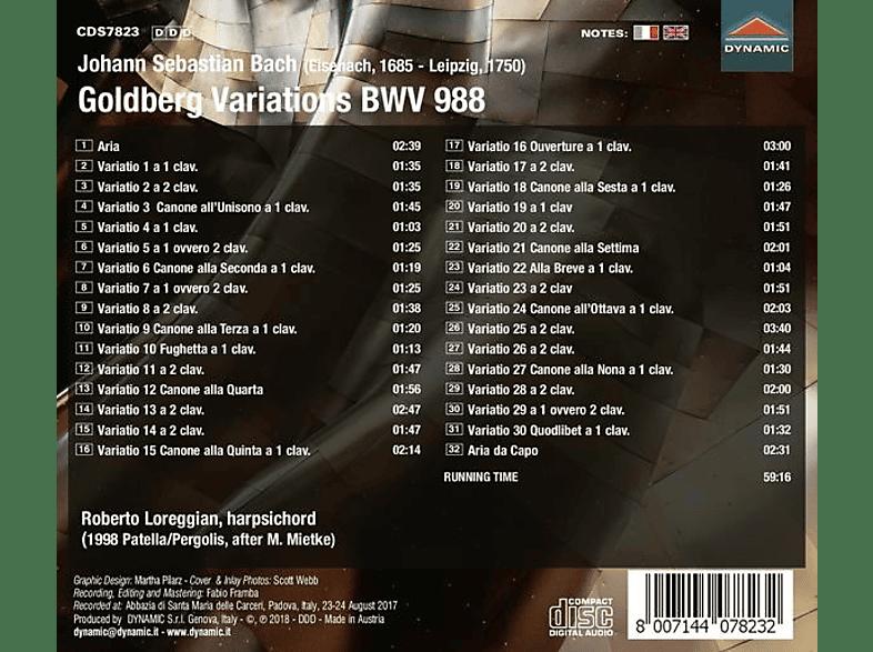 Roberto Loreggian - Goldberg Variationen BWV 988 [CD]
