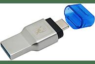 KINGSTON MobileLite Duo 3C micro USB Kartenlesegerät , Blau/Grau