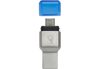 KINGSTON MobileLite Duo 3C micro USB, Kartenlesegerät , Blau/Grau