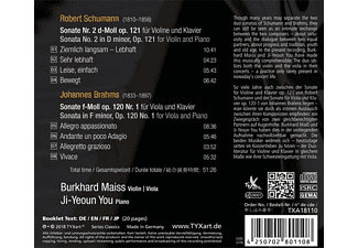 Burkhard Maiss, Ji-yeoun You - Sonate 2 für Violine & Klavier/Sonate op.120  - (CD)