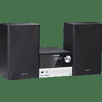 GRUNDIG CMS 3000 Kompaktanlage (CD, CD-R, CD-RW, Schwarz/Silber)