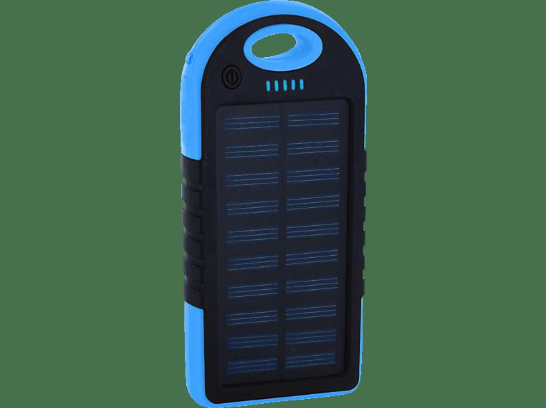 XLAYER PLUS Solar Powerbank 14.8 Wh (3.7V / 4.000 mAh) Schwarz/Blau